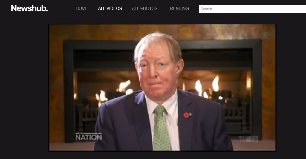 Housing Nick Smith in front of a roaring fire while interview on The Nation. This is while people freeze in substandard homes (or cars)