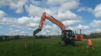 Sod turned marking the start of the Auranga development