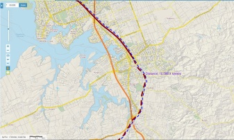 Papakura Section of the heavy rail network