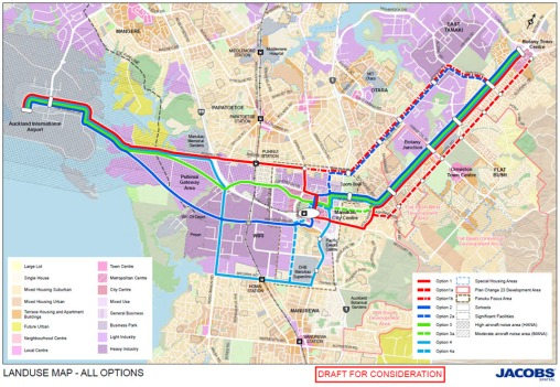 AT's proposals for the Botany Line to the Airport Source: Auckland Transport