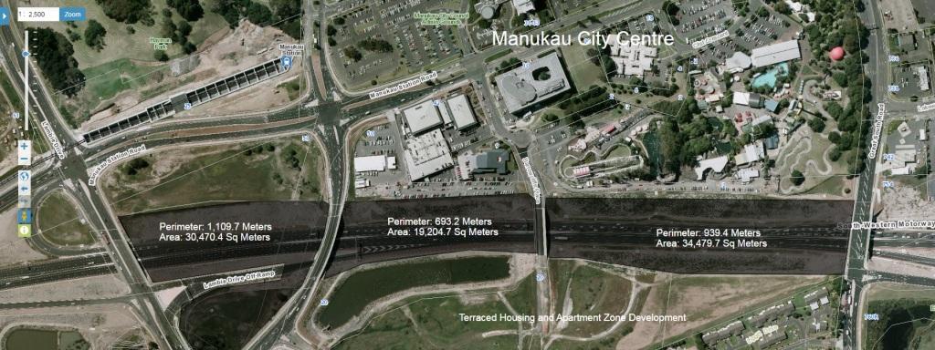 Manukau, Manukau City Centre and State Highway 20