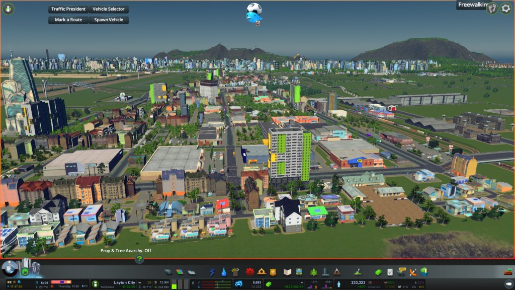Manukau City Centre in Cities Skylines