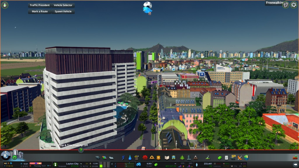 Nice tree lined street in Cities Skylines version of Manukau City Centre. HUMANISING