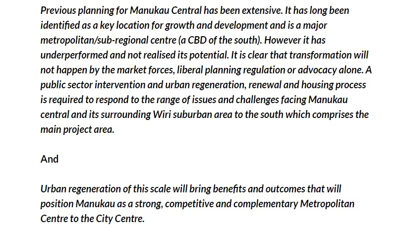 Panuku on Manukau (Panuku also reads the blog) Source: High Level Project Plan presentation to Auckland Council