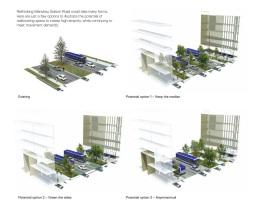 Manukau station road redevelopment options Source: Panuku Development Auckland