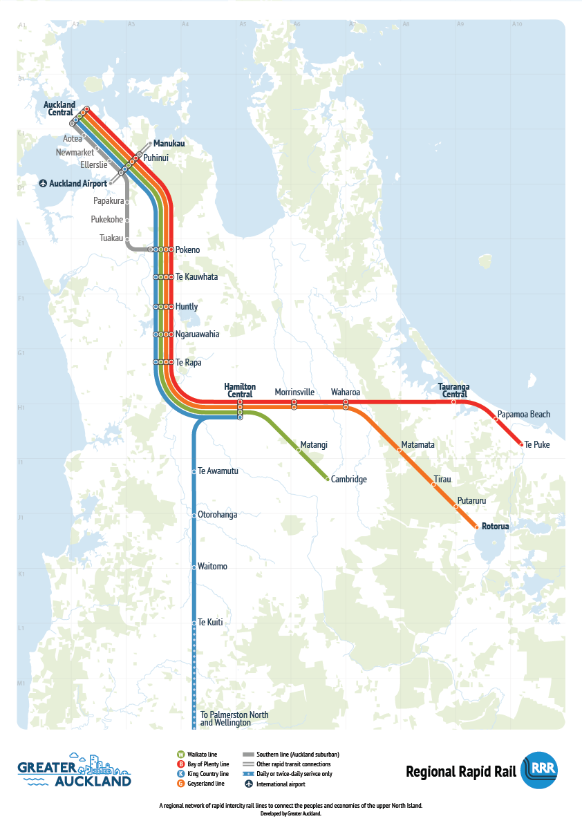 Rapid Regional Rail Source: Greater Auckland