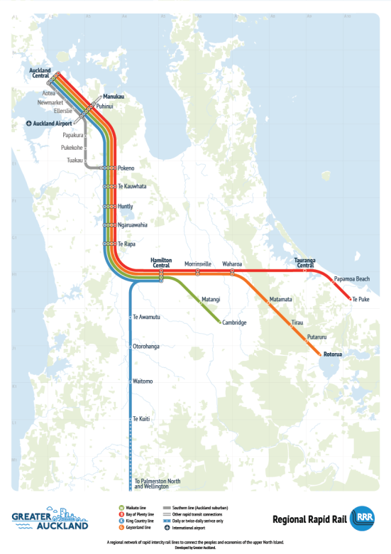 Rapid Regional Rail Source: Greater Auckland