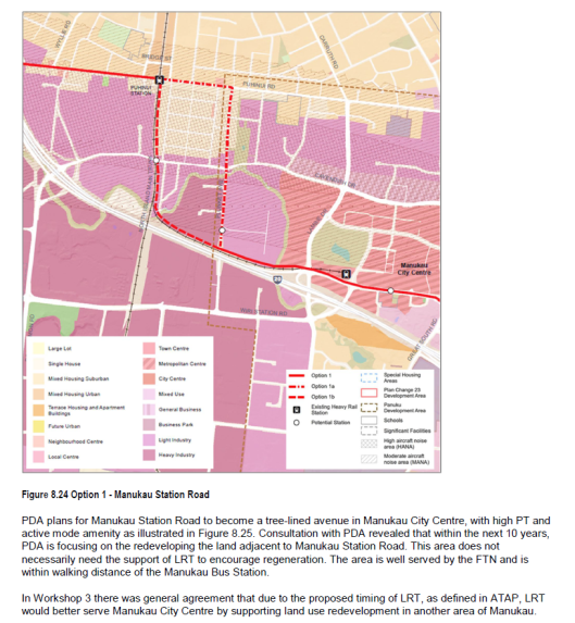 Airport Line through Manukau Source: https://www.scribd.com/document/365399828/Southern-Airport-Line-LRT-Alignment-Proposals-and-Final#