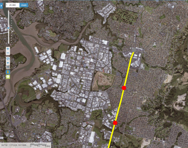 The Southern Airport Line 2018 - terminating at Botany. It can extend to Howick via Botany Road.
