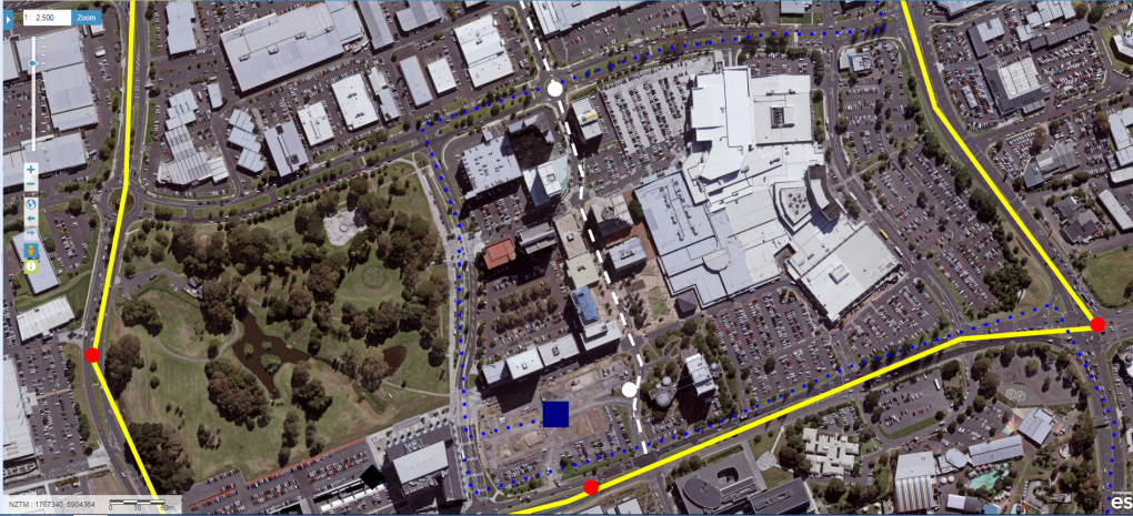 The Southern Airport Line alternative route through Manukau creating a transit mall type environment . Route could also form the spine for a LLRT route.