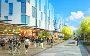 Artist's impression of Putney Way Source: Panuku Development Auckland