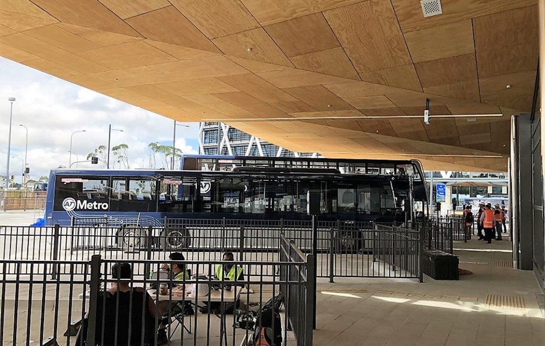Manukau Bus Station Build Nears Completion. Open Date Set for April. Bike facilities Poor