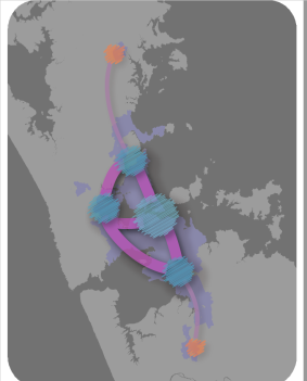 The Nodes and Satellites Auckland Plan 2050 Source: Auckland Council