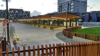 The bus bays of Manukau Bus Station