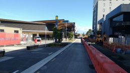 Manukau Bus Station looking down Putney Way towards the rail station