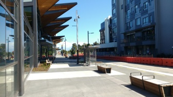 Manukau Bus Station and Putney Way looking to the rail station