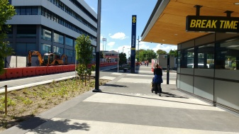 Manukau Bus Station and Putney Way looking to the Mall