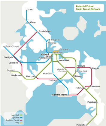 ATAP RTN Future Source: NZ Government and Auckland Council