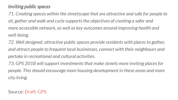 Using Transport to create public spaces. Source: GPS via NZ Government