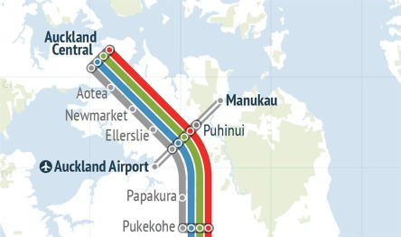 Regional Rapid Rail and the Southern Airport Line Source: Greater Auckland