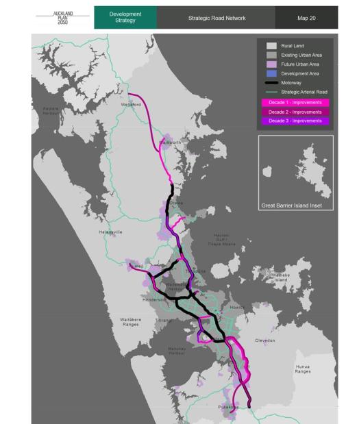Roads AP2050 Source: Auckland Council